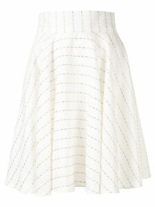 Bambah striped oriental skirt - White