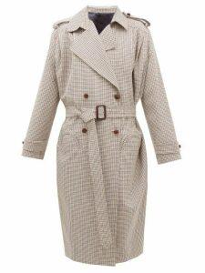 Blazé Milano - Wait Houndstooth Wool-blend Coat - Womens - Brown Multi