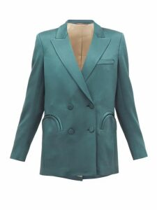 Blazé Milano - Everynight Double-breasted Crepe Blazer - Womens - Green