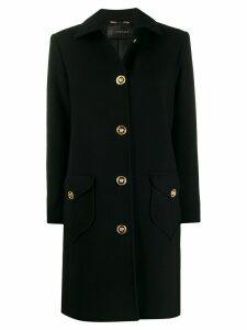 Versace Medusa button single-breasted coat - Black