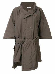 Issey Miyake Cauliflower padded tech coat - Brown