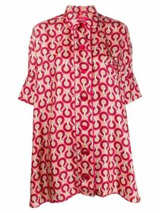 F.R.S For Restless Sleepers silk geometric-print blouse - PINK