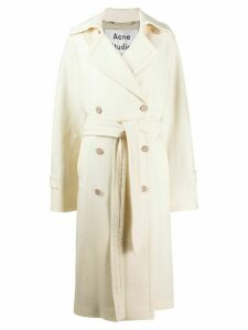 Acne Studios oversized belted trench coat - NEUTRALS