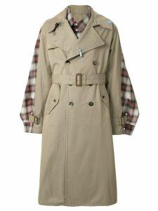 Maison Mihara Yasuhiro double breasted trench coat - Brown