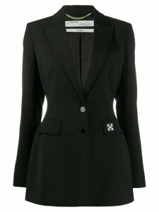 Off-White one button tailored blazer - Black