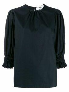 MSGM elasticated cuff blouse - Black