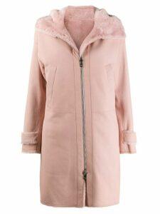 Loro Piana zipped single breasted coat - PINK