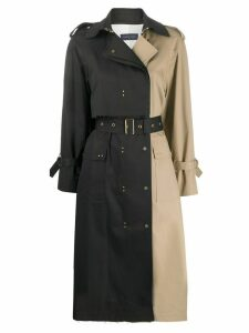 Eudon Choi two-tone trench coat - NEUTRALS