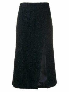 Etro side slit tweed skirt - Blue