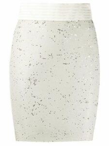 Just Cavalli high waist sequinned skirt - NEUTRALS