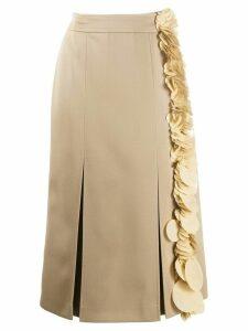 Prada sequin trimmed straight skirt - NEUTRALS