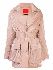 Eckhaus Latta belted short coat - PINK