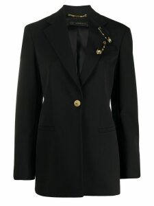 Versace safety pin detail blazer - Black