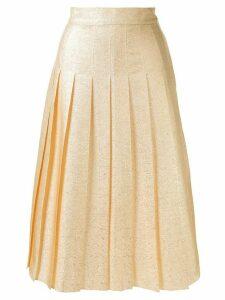 Vika Gazinskaya pleated midi skirt - GOLD