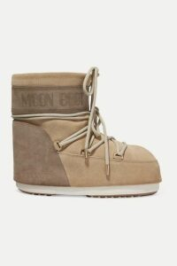 Moon Boot - Coated-suede Snow Boots - Sand