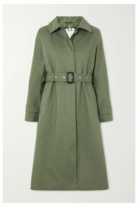 Mackintosh - Roslin Bonded Cotton Trench Coat - Army green