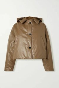 Kassl Editions - Oil Hooded Coated Cotton-blend Coat - Tan