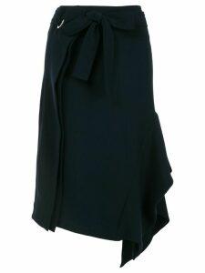 Eudon Choi asymmetric draped skirt - Blue