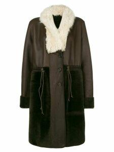 Chloé reversible oversized lambskin coat - Brown