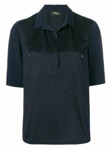 Les Copains concealed front shirt - Blue