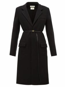 Bottega Veneta - Single-breasted Belted Cashmere Coat - Womens - Black