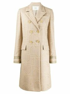 Bally fitted double-breasted coat - NEUTRALS