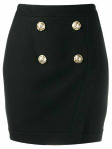 Balmain buttoned wrap skirt - Black