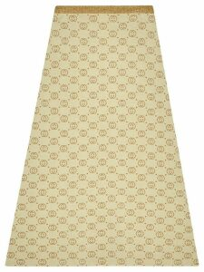 Gucci Interlocking G lamé midi skirt - NEUTRALS