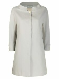 Herno cropped sleeve coat - Grey