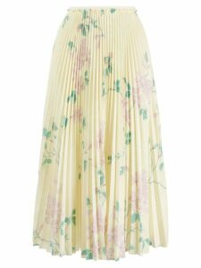Red Valentino floral print pleated skirt - Yellow