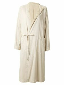 Y's relaxed-fit coat - Brown