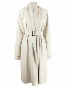 Rick Owens belted coat - NEUTRALS