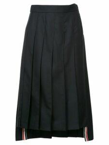 Thom Browne pleated midi skirt - Blue