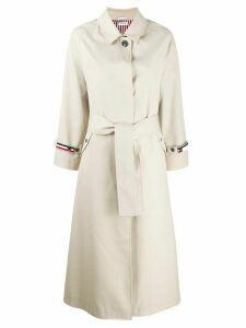 Thom Browne Waterproof Unconstructed Trench Coat - NEUTRALS