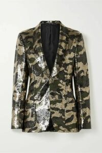R13 - Sequined Crepe Blazer - Army green