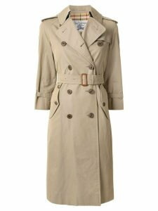 Burberry Pre-Owned double-breasted trench coat - Brown