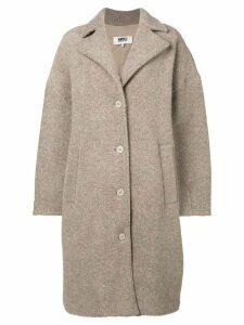 Mm6 Maison Margiela oversized coat - NEUTRALS