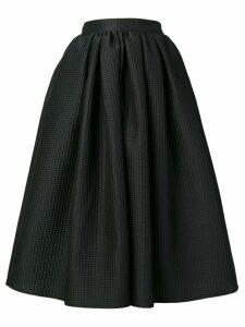 MSGM textured flared skirt - Black