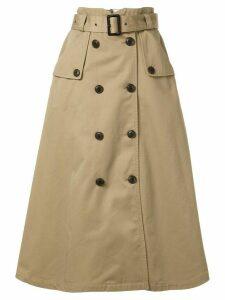 Loveless A-line midi skirt - Brown