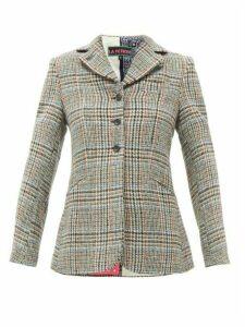 La Fetiche - Bianca Houndstooth Wool-tweed Blazer - Womens - Grey Multi