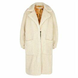 Free People Tessa Cream Faux Shearling Coat