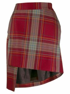 Vivienne Westwood asymmetric plaid skirt - Red