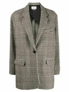Isabel Marant Étoile Ondine houndstooth pattern blazer - Black