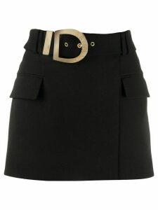 Balmain belted short skirt - Black