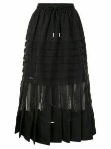Lee Mathews Callie pleated midi skirt - Black