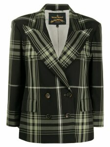Vivienne Westwood Anglomania plaid boxy blazer - Black