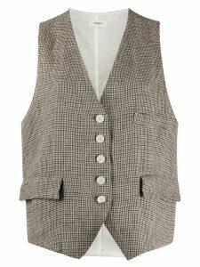 Barena micro houndstooth waistcoat - NEUTRALS