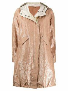 Brunello Cucinelli oversized wrinkled-effect coat - NEUTRALS