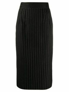 Dolce & Gabbana pinstriped fitted midi skirt - Black