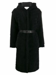 Ba & Sh Filip belted fleece coat - Black